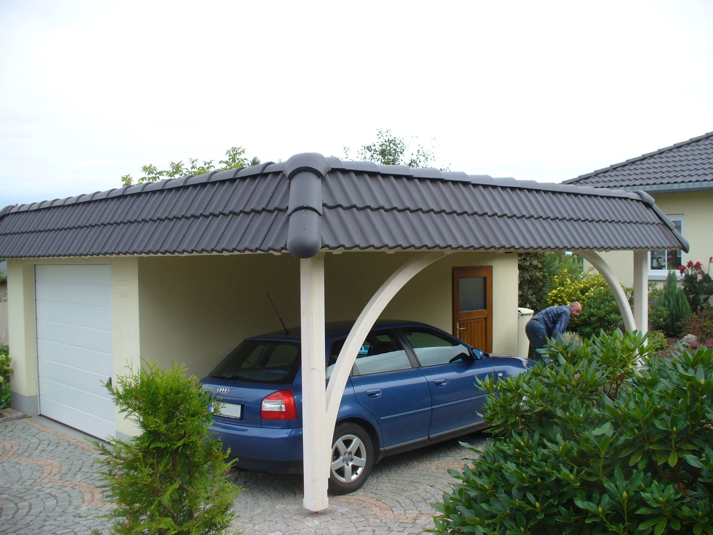 Garage carport kombination carport scherzer