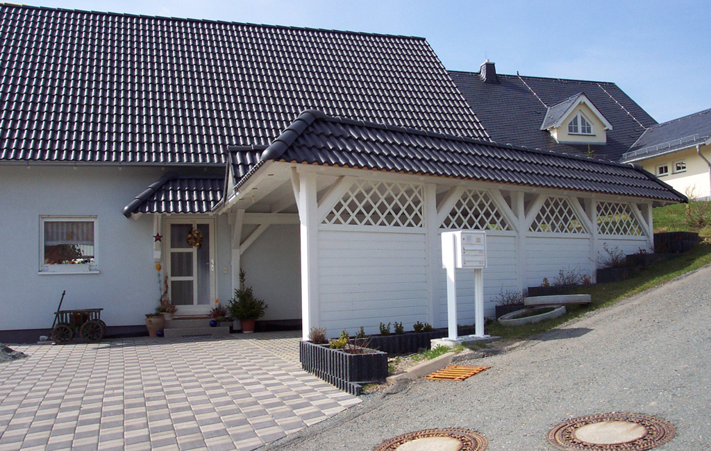 carports passend zum haus carport scherzer. Black Bedroom Furniture Sets. Home Design Ideas
