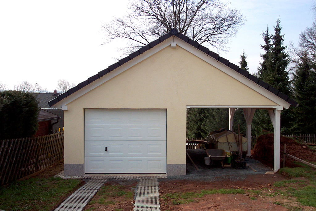 Garage carport kombination carport scherzer for Garage and carport