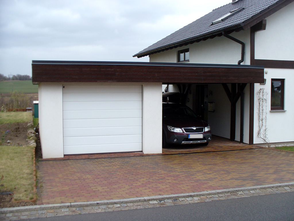 garage carport kombination carport scherzer. Black Bedroom Furniture Sets. Home Design Ideas
