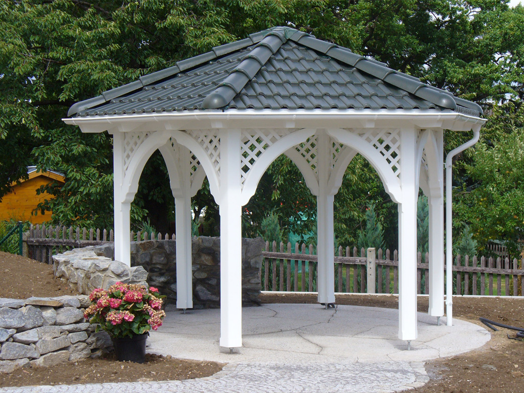 pavillon aus holz carport scherzer. Black Bedroom Furniture Sets. Home Design Ideas
