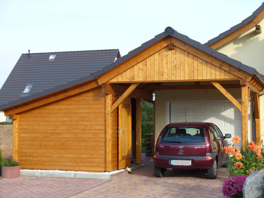 satteldachcarports carport scherzer. Black Bedroom Furniture Sets. Home Design Ideas