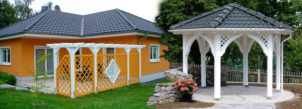 Sichtschutz und Pavillons