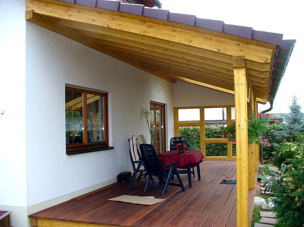 Terrassenuberdachungen Aus Holz Carport Scherzer