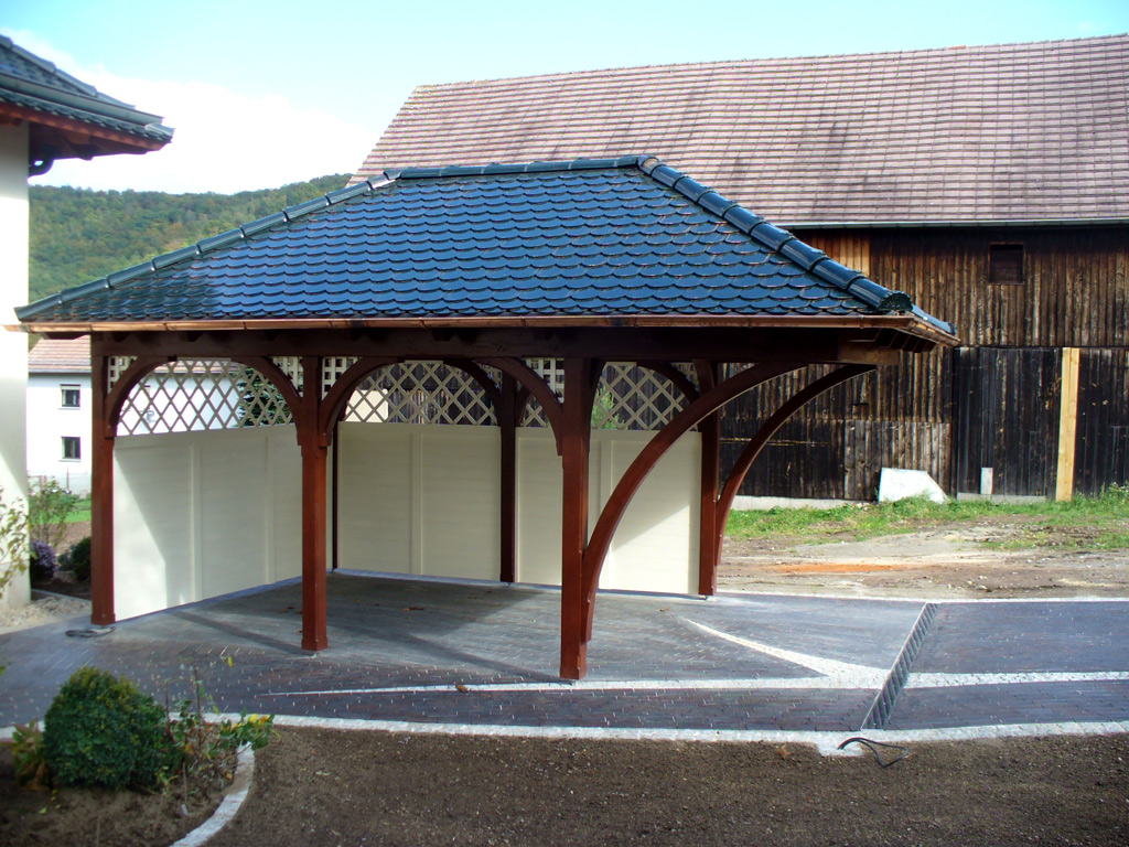 walmdachcarport carport scherzer. Black Bedroom Furniture Sets. Home Design Ideas